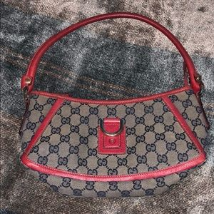 Authentic GUCCI Red logo Purse
